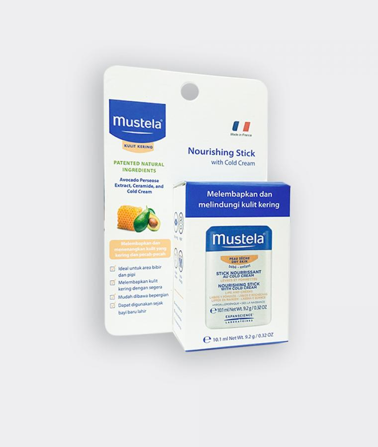 mustela nourishing stick side view
